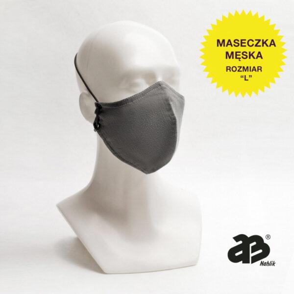 Maseczka trójwarstwowa higieniczna - Męska - Grey