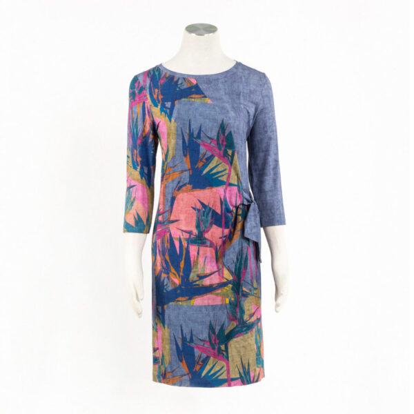 Sukienka Hawaii. Kolory: Jeans lub Indygo