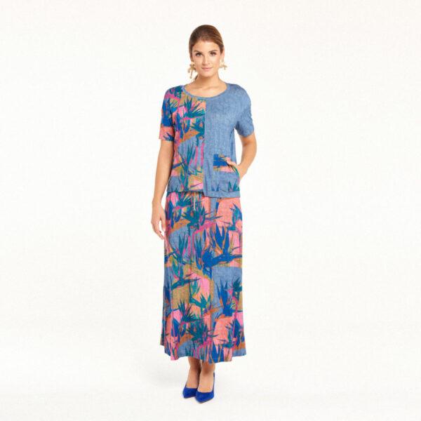 Spódnica Maui: Kolory Lazur lub Jeans