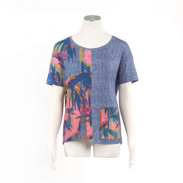 Bluzka Tahiti: Kolory Jeans, Olive, Indygo