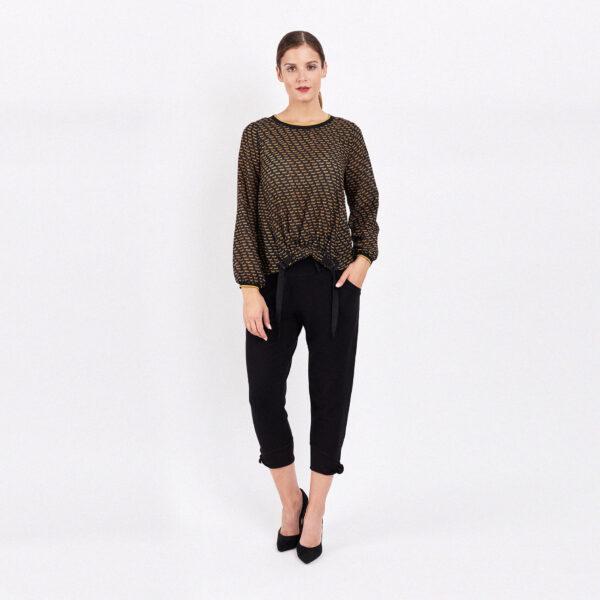 Bluzka wiskozowa damska z długim rękawem. Kolekcja jesieńzima AB Nahlik