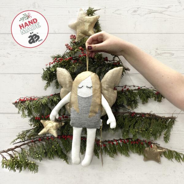 Aniołek dekoracja świąteczna. Lalka przytulanka.