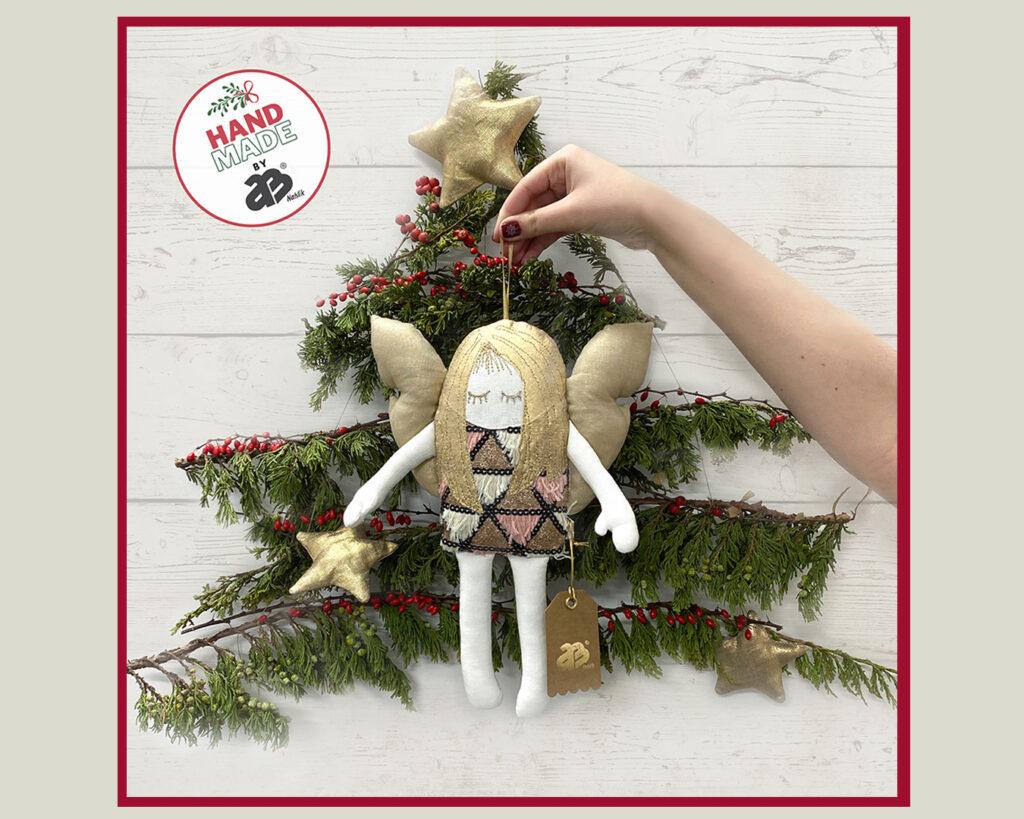 Aniołek dekoracja świąteczna, przytulanka. AB Nahlik